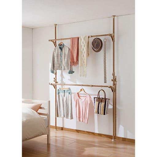 室内物干しにも使える突っ張りポールハンガー – セシール
