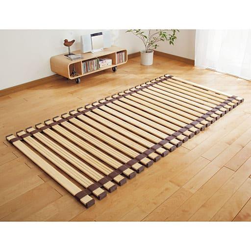 桐天然木すのこベッド(ロールタイプ)の写真