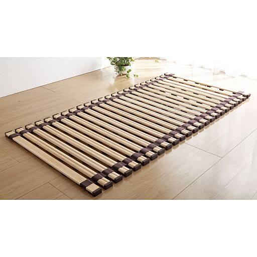 桐天然木すのこベッド(ロール式)の写真