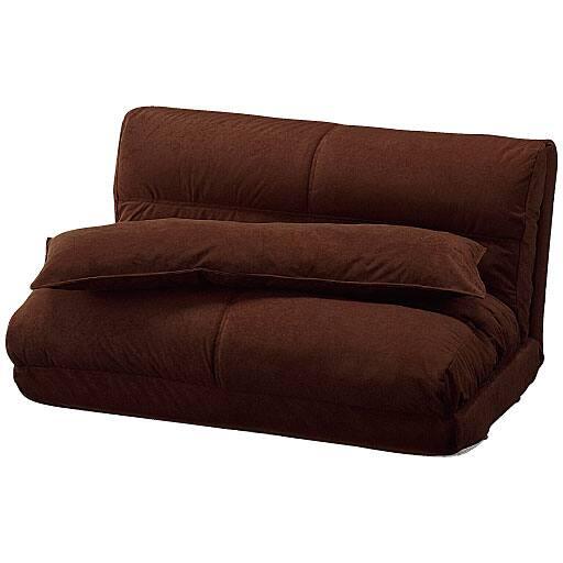 3つ折れソファベッド(クッション付き)の写真
