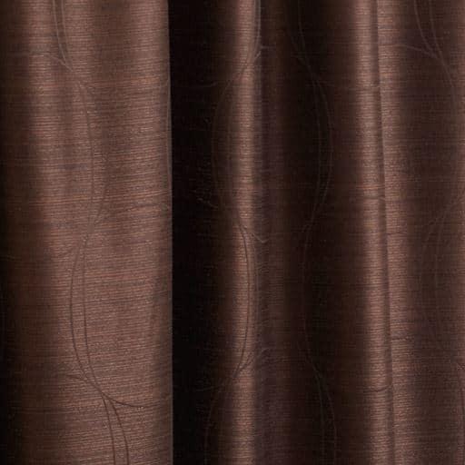 〔形状記憶付き〕モダンサークル柄ジャカード織りカーテン – セシール