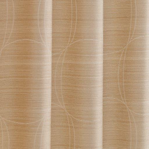 〔形状記憶付き〕モダンサークル柄ジャカード織りカーテンの商品画像