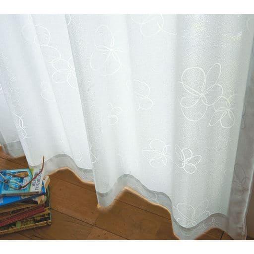 〔形状記憶付き〕UVカットミラーレースカーテンの商品画像