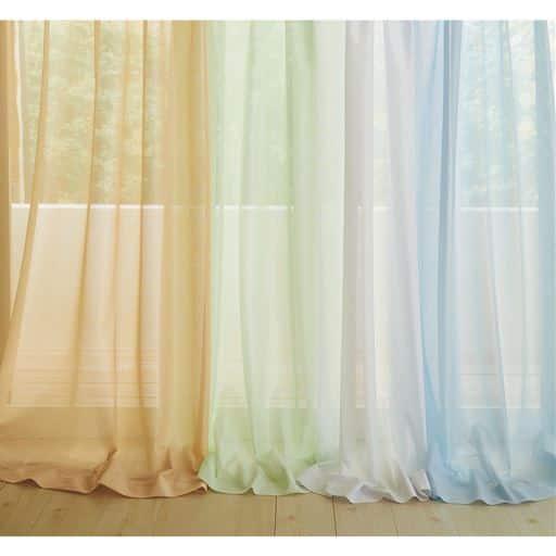 〔形状記憶付き〕UVカット防炎ミラーレースカーテンの写真