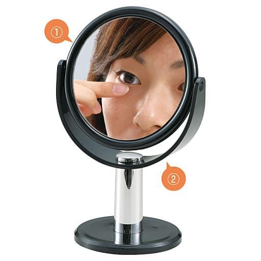 10倍拡大鏡付きミラー