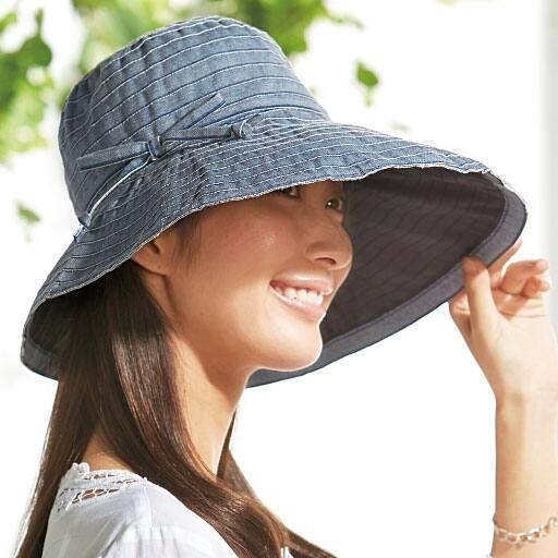 1級遮光のUVカット2WAY帽子