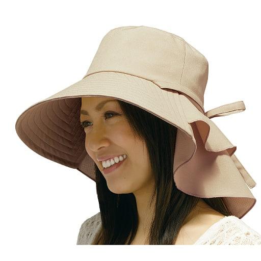 首筋涼感エレガント帽子 - セシール
