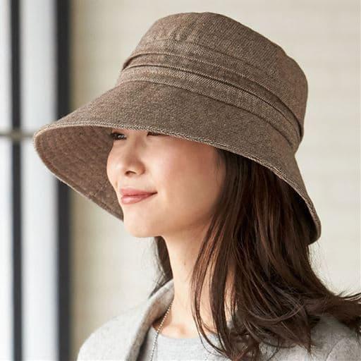 15機能で小顔に見える発熱蓄熱UV帽子