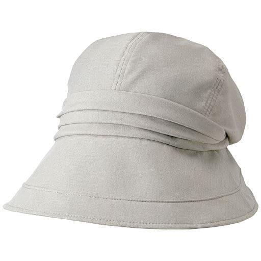 21機能で小顔に見える遮熱遮光UVクロッシェ帽子<美活計画>の通販