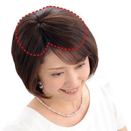 総手植え人毛100% ミニつむじヘアピース