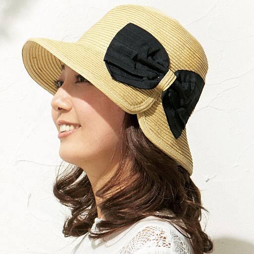ビッグリボンブレード UVカット帽子 – セシール