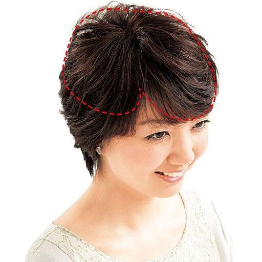 人毛100%総手植え 地肌付きヘアピース
