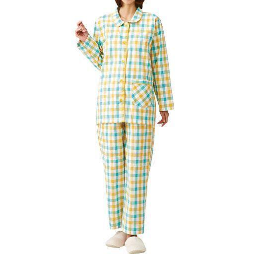 【レディース】 綿100%先染めパジャマ