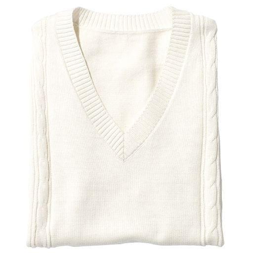 <セシール> 30%OFF【子供服】 スクールベスト(綿100%) <サイズ>130、170、150 <カラー>ホワイト