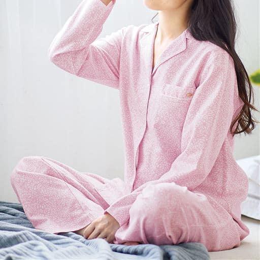 微起毛なめらかシャツパジャマ