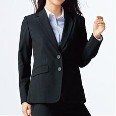 丈が選べるテーラードジャケット(事務服・洗濯機OK・ストレッチ素材)