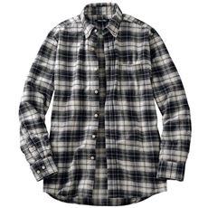 綿100%チェック柄フランネルシャツ