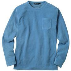 スマートヒート・フリースクルーネック長袖Tシャツ 吸湿発熱素材+静電気軽減テープ使い