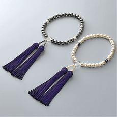 パール念珠(念珠袋付き)(日本製)
