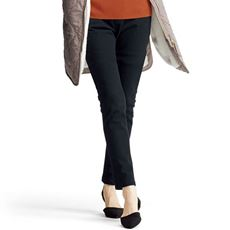 ニットデニムプルオンスリムパンツ(スマートニットジーンズ)(美脚パンツ・選べる3レングス)
