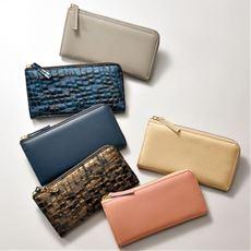 日本製 L字型ウォレット(財布)(日本製)(大容量)