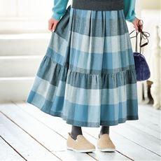 ブロックチェック柄スカート