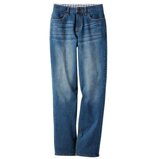 【大きいサイズ プランプ】全体にゆとりのあるボーイズライクなシルエットのストレートジーンズです。