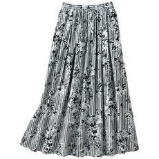 フラワープリントストライプスカート