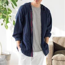 くるっと丸めてポンのシャツパーカー(綿100%)
