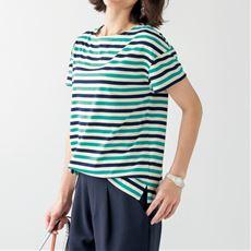 ボートネックボーダーTシャツ(S~5L・半袖)