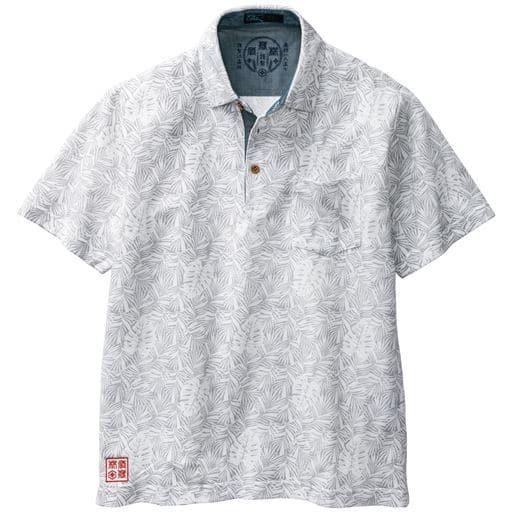 総柄プリントポロシャツ