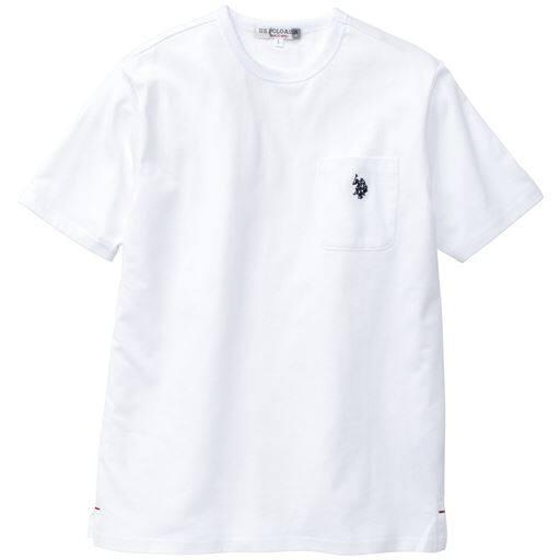 胸刺繍ポケ付きTシャツ(USポロアッスン)