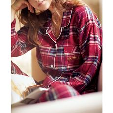 着心地も肌触りも心地よい起毛ビエラのシャツパジャマ(綿100%)