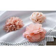 ウォールフラワー(3点セット) 粘着シート・面ファスナー付き 3種類の花柄
