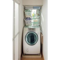 洗濯機ラック(伸縮式・スリムフレーム)