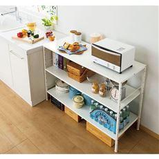 キッチン作業台(収納棚付き)