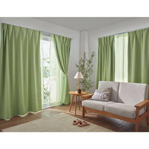 お部屋やインテリアを選ばない、豊富なカラーとサイズが大好評! セシールロングセラーの防炎1級遮光カーテンです。日本で丁寧に縫製し仕上げた、こだわりの仕様です。