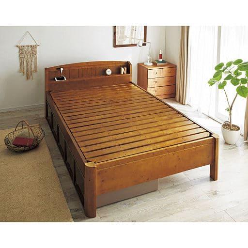 【第4位】すのこベッド(頑丈棚付き)