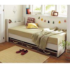 マット付きベッド(組み立て簡単)