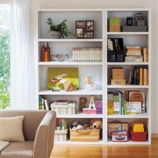 頑丈棚板を使用したA4ファイルがピッタリ入る書棚