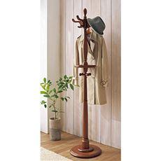 おしゃれなアンティーク調のポールハンガー(木製)