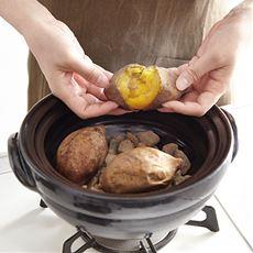ご飯も炊ける石焼きいも器