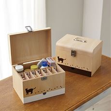 木製くすり箱(猫の足あとシリーズ)