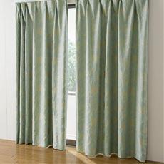 遮熱保温1級遮光裏地付きジャカード織カーテン