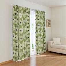 ナチュラルなお部屋に合う北欧風カーテン(2級遮光)