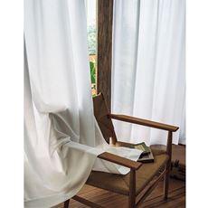 〔形状記憶付き〕シンプル無地調UVカットミラーレースカーテン