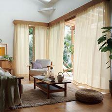 ボイルカーテン(麻と綿で織った風合い)