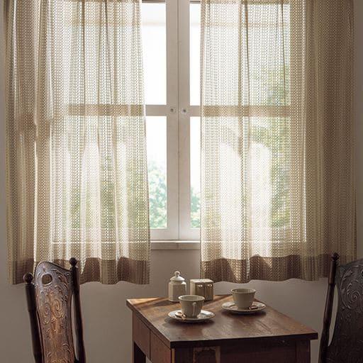 お部屋をワンランク上げるざっくり編みレースカーテン<br><span class=orange>★4.1</span>(55件)