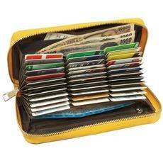 カードが36枚入るクロコ型押し財布