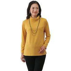 発熱素材衿シャーリングプルオーバー